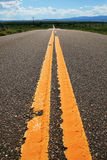 Rural road yellow lines Stock Photography