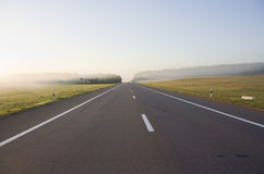 Rural Roads. In mist, sunset Stock Photography