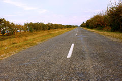 Rural roads covered with asphalt Stock Photos