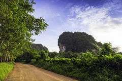 Rural roads, Krabi province. Stock Photos
