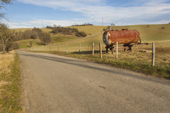 Rural roads and pastures in the Czech Republic Royalty Free Stock Photos