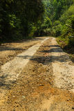 Rural roads. In Underdeveloped country,Thailand Stock Photo