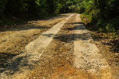 Rural roads. In Underdeveloped country,Thailand Royalty Free Stock Photography