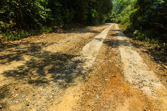 Rural roads. In Underdeveloped country,Thailand Stock Images