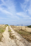 Rural rocky road in Koufonissi island stock photography