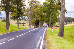 Rural route - Poland. Royalty Free Stock Photography