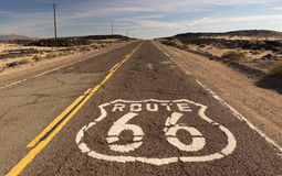 Rural Route 66 Two Lane Historic Highway Cracked Asphalt Royalty Free Stock Image