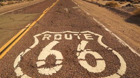 Rural Route 66 Two Lane Historic Highway Cracked Asphalt stock footage