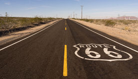 Rural Route 66 Two Lane Historic Highway Cracked Asphalt Royalty Free Stock Photo