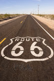 Rural Route 66 Two Lane Historic Highway Cracked Asphalt Royalty Free Stock Photos
