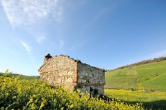 Rural ruins in the italian country Royalty Free Stock Photography