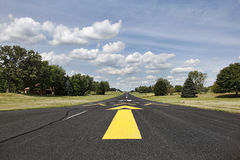 Rural runway in Southern Wisconsin Royalty Free Stock Photos