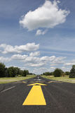 Rural runway in Southern Wisconsin Stock Image