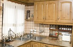 Rural or rustic kitchen Stock Image