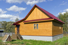 Rural rustic wooden house Royalty Free Stock Images