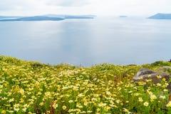 Rural Santorini landscape near Oia, Greece stock photography