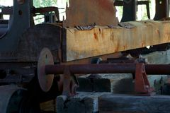 Rural Sawmill in a mountain community stock photos