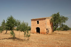 Rural scene. Old house on the isle of mallorca Royalty Free Stock Photos