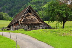 Rural scene: barn in the Carnia region, Friuli, Italy Stock Photography