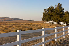 Rural Scene Fence Stock Photo