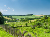 Rural scene with gardens Royalty Free Stock Image
