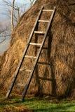 Rural scene haystack Stock Image