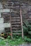 Rural Scene, ladders and pots Royalty Free Stock Photography
