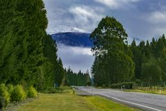 Rural scene road side to te anau town south land new zealand Royalty Free Stock Photography