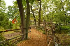 Rural scene. At Skansen, the first open-air museum and zoo, located on the island Djurgarden Stock Image