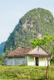 Rural scene with a rustic house at the Vinales Valley in Cuba Stock Photos