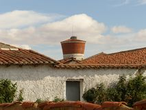 RURAL SCENE OF A SPANISH PEOPLE royalty free stock photography