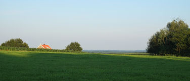 Rural scene on a summer evening near Ootmarsum (Overijssel, Netherlands) Stock Photography