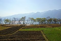 Rural scenery around Erhai lake and Dali, Yunnan province, China Stock Photography