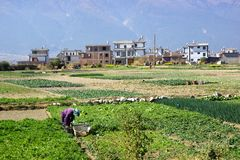 Rural scenery around Erhai lake and Dali, Yunnan province, China Stock Photography