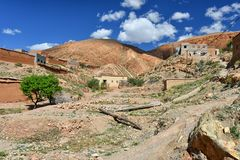 Rural scenery country living in Morocco Stock Photo