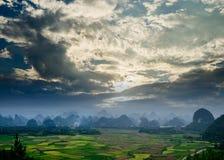 Rural scenery in Guilin Stock Photo