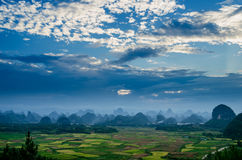 Rural scenery in Guilin Stock Photography