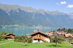 Rural scenery of Iseltwald in Jungfrau region on Switzerland Stock Photos