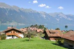 Rural scenery of Iseltwald in Jungfrau region on Switzerland Stock Images