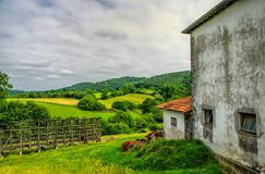 Rural scenery in South West France. Royalty Free Stock Images