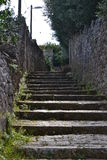 Rural scenic: village steps Stock Photos