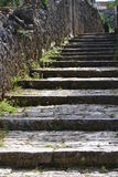 Rural scenic: village steps Royalty Free Stock Images