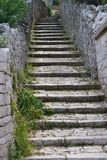 Rural scenic: village steps Royalty Free Stock Image