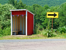 Rural School Bus Stop Shelter Royalty Free Stock Images