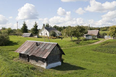 Rural September landscape Stock Photos