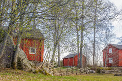Rural Settlement. In Finland, shot taken in early spring Royalty Free Stock Images