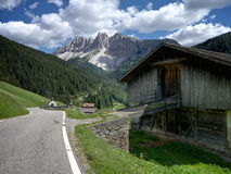 Rural Shed in the Dolomites Royalty Free Stock Photo