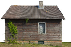 Rural shed with one window and wild grapes Stock Photography