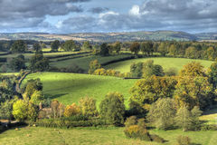 Rural Shropshire. Shropshire countryside near Ludlow, England Royalty Free Stock Photos