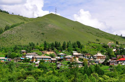 Rural Siberian Landscape Royalty Free Stock Image